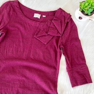 Anthropology Ruffled Top Size Small